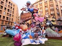 Las Fallas, Valence, Espagne Photographie stock