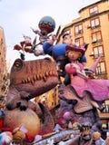 Las Fallas, Valence, Espagne Photographie stock libre de droits