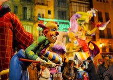 Las Fallas, Valence, Espagne Images stock