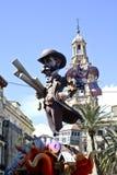 Las Fallas, papermache modele wystawiający podczas tradycyjnego świętowania w pochwale dla St Joseph Marzec 15, 2018 w Walencja,  Obrazy Royalty Free