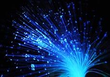 Las fibras ópticas azules Foto de archivo libre de regalías