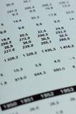 Las figuras del balance son estadísticas Fotos de archivo libres de regalías