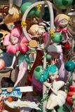 Las figuras populares del fest de Fallas quemarán en el 19 de marzo Foto de archivo libre de regalías