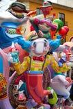 Las figuras populares del fest de Fallas quemarán en el 19 de marzo Imagen de archivo libre de regalías