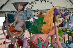 Las figuras populares del fest de Fallas quemarán en el 19 de marzo Imagenes de archivo