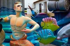Las figuras populares del fest de Fallas quemarán en el 19 de marzo Imagen de archivo