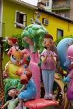 Las figuras populares del fest de Fallas quemarán en el 19 de marzo Fotografía de archivo libre de regalías