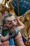 Las figuras populares del fest de Fallas quemarán en el 19 de marzo Imágenes de archivo libres de regalías