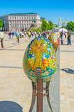 Las filas de huevos Imagen de archivo