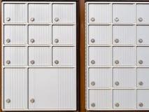 Las filas del armario de Canadá rural fijan el buzón del metal Foto de archivo libre de regalías