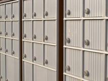 Las filas del armario de Canadá rural fijan el buzón del metal Fotografía de archivo libre de regalías