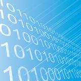 Las filas del binario calculan el fondo abstracto. Foto de archivo