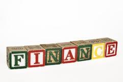 Las finanzas bloquean horizontal Fotografía de archivo