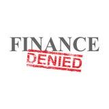 Las finanzas negaron el sello de la palabra ilustración del vector