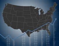 Las finanzas y la economía de Estados Unidos ilustración del vector