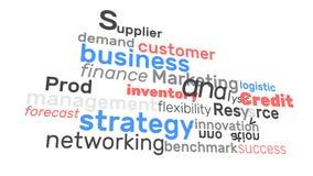 Las finanzas y la gestión del márketing de negocio de la animación redactan el lazo Uso gráfico de las palabras para el modelo de ilustración del vector