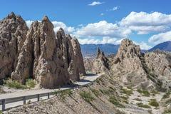 Las Flechas峡谷在萨尔塔,阿根廷。 图库摄影