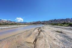Las Flechas峡谷在萨尔塔,阿根廷 库存图片
