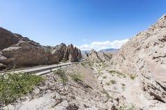 Las Flechas峡谷在Salta,阿根廷。 免版税库存图片