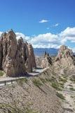Las Flechas峡谷在Salta,阿根廷。 免版税库存照片