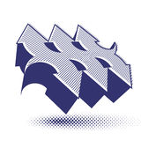 Las flechas abstractas vector el símbolo, plantilla del diseño gráfico de vector, v Imagenes de archivo