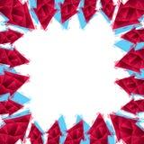 Las flechas confinan hecho en el estilo geométrico contemporáneo, backg del vector Fotografía de archivo