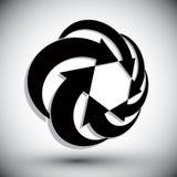 Las flechas del bucle infinito vector el símbolo abstracto, temporero del diseño gráfico Fotos de archivo libres de regalías