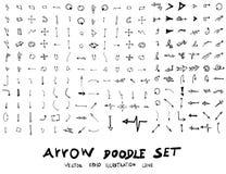 Las flechas dibujadas mano del vector fijaron eps10 Foto de archivo