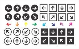 Las flechas fijaron stock de ilustración