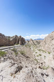 Las Flechas klyfta i Salta, Argentina Arkivfoto