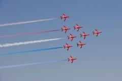 Las flechas rojas Imagenes de archivo