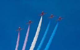 Las flechas rojas Fotografía de archivo