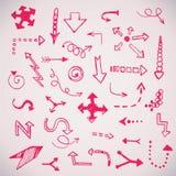 Las flechas simples dibujadas mano fijaron hecho en vector Fotografía de archivo