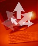Las flechas Team trabajos Imágenes de archivo libres de regalías
