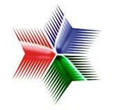Las flechas tienen gusto de la estrella Imagen de archivo libre de regalías