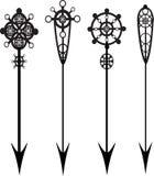 Las flechas vector el conjunto Fotografía de archivo libre de regalías
