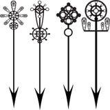 Las flechas vector el conjunto Foto de archivo