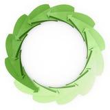 Las flechas verdes giran como reciclando Foto de archivo