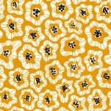 Las flores abstractas dan el modelo inconsútil exhausto del color stock de ilustración