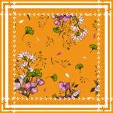 Las flores aisladas realistas florecientes del papel pintado dan dibujado Fondo de la vendimia Ilustración del vector Flor incons libre illustration