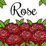 Las flores de la historieta subieron Foto de archivo libre de regalías