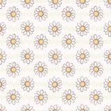 Las flores de la manzanilla de la margarita del vector dan el modelo inconsútil exhausto del vector ilustración del vector