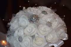 Las flores de la novia de la boda Imagen de archivo libre de regalías