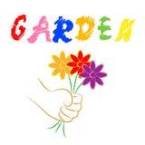 Las flores del jardín representan el ramo Flora And Gardening ilustración del vector