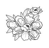 Las flores del tatuaje fijaron el trabajo del punto ilustración del vector
