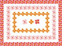 Las flores enmarcan hecho del plasticine del juego de niños Fotos de archivo libres de regalías