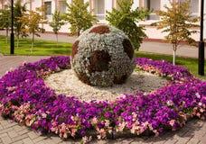 Las flores esculpen en Astana Imagen de archivo