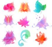 Las flores, follaje ilustración del vector