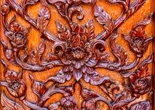 Las flores talladas, liana tallada, tallaron puertas y ventanas Imagen de archivo libre de regalías