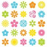 Las flores vector el conjunto Imagen de archivo libre de regalías